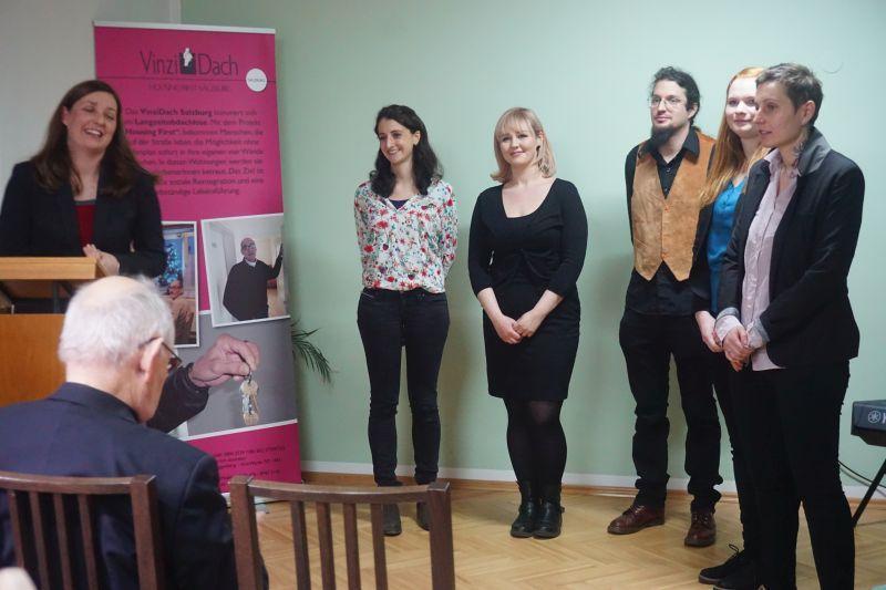 Ein großer Dank den 5 SozialarbeiterInnen des Projekts (© VinziWerke)